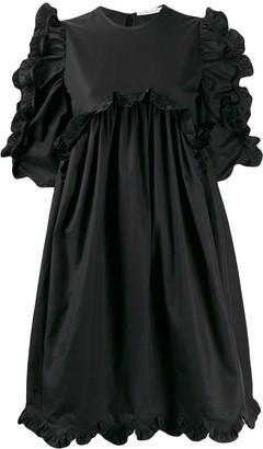 Cecilie Bahnsen Ruffle-Trim Flared Dress