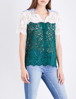 Sandro Panelled lace shirt