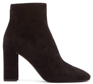 Nicholas Kirkwood Essential Mirrored-heel Suede Ankle Boots - Black