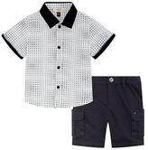 Armani Junior Short Sleeve Shirt and Shorts Set