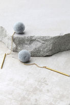 LuLu*s Open Your Heart Gold and Grey Pompom Earrings