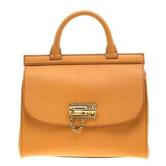 Dolce & Gabbana Yellow Leather Handbags