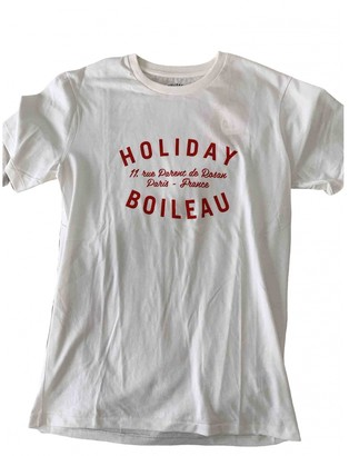 Holiday White Cotton Tops