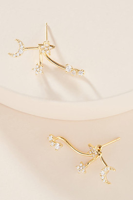 Celestial Crawler Earrings By Tai Rittichai in Gold