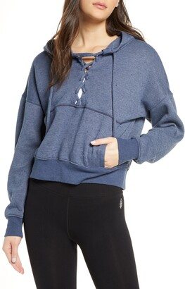 Free People Believe It Lace-Up Hoodie