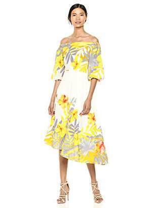 Donna Morgan Women's Asymmetrical Off The Shoulder Dress