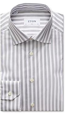 Eton Slim Fit Striped Natural Stretch Dress Shirt