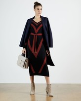 Thumbnail for your product : Ted Baker Chevron Detail Knitted Midi Dress