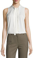 Theory Jazlina Modern Georgette Silk Top