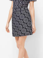 Michael Kors Eyelet-Embroidered Print Skirt