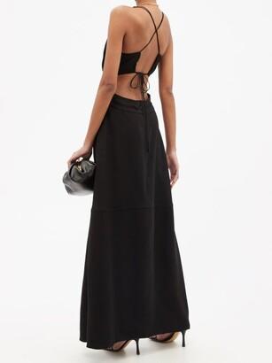 Victoria Beckham - Cutout-back Crepe Maxi Dress - Black