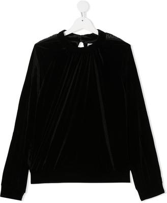 Karl Lagerfeld Paris Velvet Sweatshirt