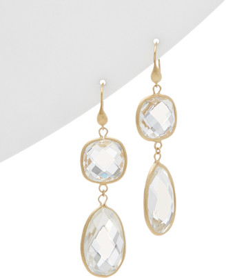 Rivka Friedman 18K Clad Crystal Drop Earrings