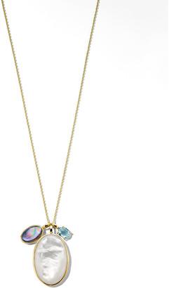 "Ippolita 18K Rock Candy Luce 3-Stone Necklace in Blu Notte, 32""L"