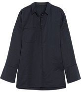 Mother of Pearl Chester Embellished Jersey Shirt - Navy