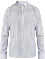 Valentino Button-cuff multi-striped cotton-poplin shirt