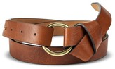 Merona Women's Belt With Gold Loop And Knot