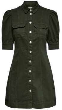 Only Puff-Sleeve Shirtdress