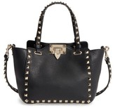 Valentino Rockstud - Mini Alce Leather Tote - Black