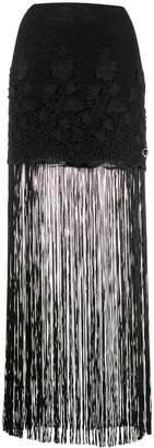 Just Cavalli Fringed Hem Skirt