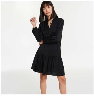 Joe Fresh Women's Drop Waist Dress, Black (Size XL)