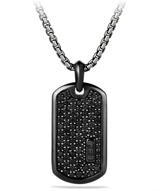 David Yurman Pave Tag with Black Diamonds and Black Titanium