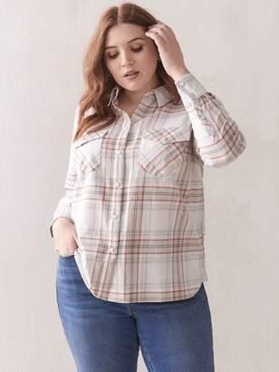Yarn-Dye Plaid Cotton Shirt - Addition Elle