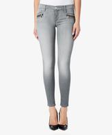 Hudson Light Gray Distressed Spark Skinny Jeans