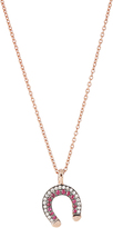 SELIM MOUZANNAR Diamond, ruby & pink-gold Fortune necklace