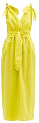 Mara Hoffman Calypso Braided-strap Cotton-blend Dress - Yellow