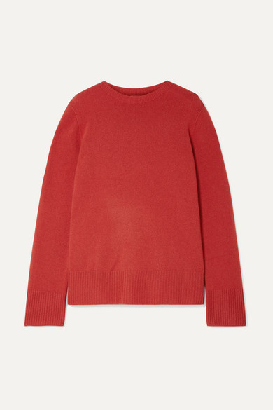 The Row Sibel Oversized Wool And Cashmere-blend Sweater - Red
