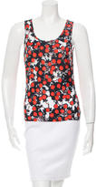Alexander McQueen Cherry Print Sleeveless Top