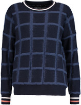 Mother of Pearl Noah checked wool intarsia-knit sweater