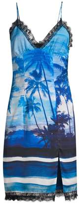 Le Superbe Helenas Tropical Print Slip Dress