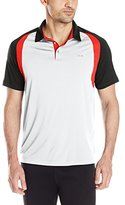 Calvin Klein Men's Performance Raglan Colorblock Interlock Polo