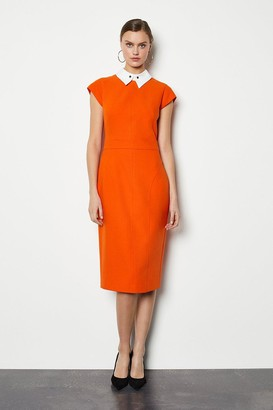 Karen Millen Seamed Collar Pencil Dress