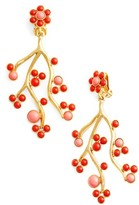Oscar de la Renta Women's Vine Clip Earrings