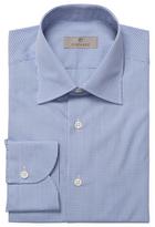 Canali Checkered Barrel Cuff Dress Shirt