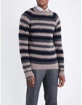 Boglioli Striped wool and cashmere-blend jumper
