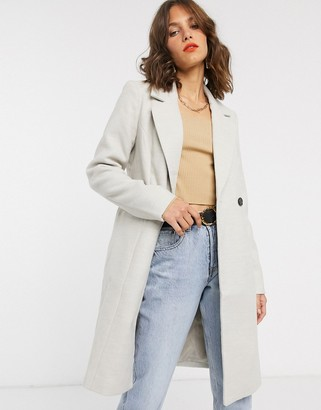 Vero Moda tailored coat in cream