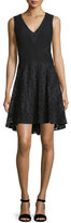 Diane von Furstenberg Fiorenza Sleeveless Lace A-Line Dress, Black