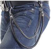 Neal LINK Man's Trousers Metal Wallet Key Men's 2 Layers Cross Trouser Chains Pendant Pant