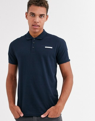Jack and Jones Core cut & sew logo polo in navy