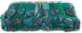 Michael Kors Stone-Embellished Snakeskin Clutch