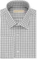 MICHAEL Michael Kors Men's Classic-Fit Non-Iron Grey Check French Cuff Dress Shirt