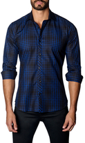 Jared Lang Cotton Check Button-Down Sportshirt