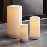 Crate & Barrel Outdoor Pillar Candles with Timer