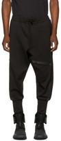 Y-3 Black Three-stripes Rib Lounge Pants
