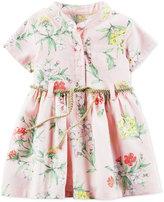 Carter's Belted Floral-Print Shirtdress, Baby Girls (0-24 months)