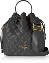 Love Moschino Black Quilted Eco Leather Bucket Bag